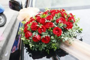 Decorate car with Rose