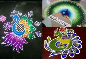 Diwali rangoli design with contrast