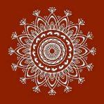 Lakshmi puja Alpana rangoli pattern