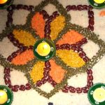 Rangoli with dal