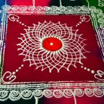 Rangoli with powder
