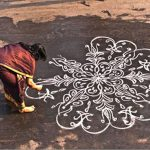 early morning kolam