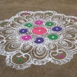 rangoli in a courtyard